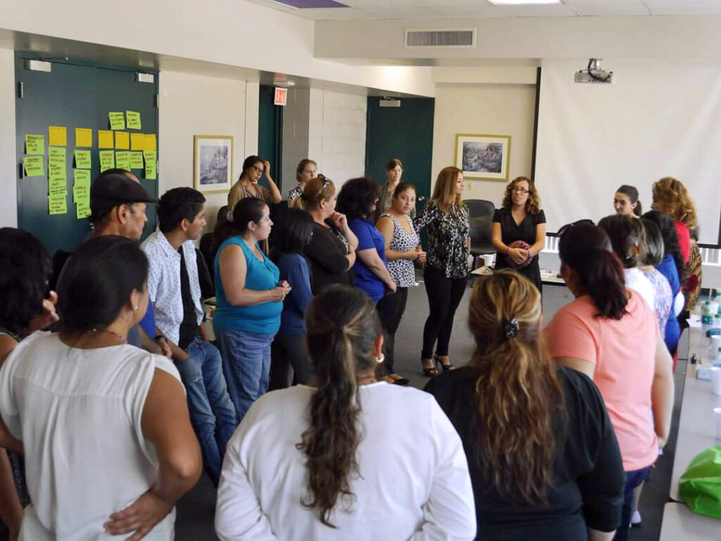 El Sol staff teaching the spectrum of prevention training